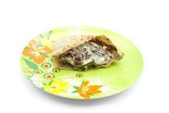Pan llenado de Egipto con la carne y las verduras Imagen de archivo