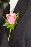 pan młody buttonhole s obraz royalty free