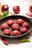 Pan of meatballs Stock Images