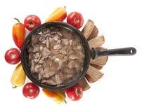 Pan met vlees en groenten Stock Fotografie