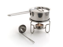 Pan for mulled wine preparation. Isolated Royalty Free Stock Photos