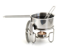 Pan for mulled wine preparation Royalty Free Stock Photos