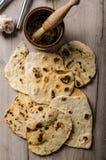 Pan naan indio hecho en casa foto de archivo libre de regalías