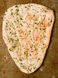 Pan naan indio rústico del ajo y del cilantro Fotos de archivo libres de regalías