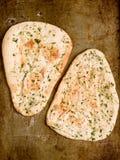 Pan naan indio rústico del ajo y del perejil foto de archivo