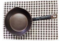 Pan on napery Stock Image
