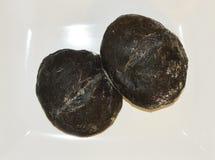 Pan negro del carbón vegetal Imagenes de archivo