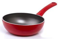 Pan with non-stick coating on white Stock Photo