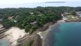 Pan over Contadora island in Panama stock footage