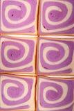 Pan púrpura del modelo Fotos de archivo libres de regalías