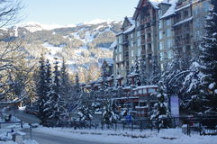 Pan Pacific Whistler Village Center Photographie stock libre de droits