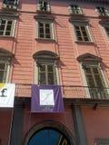 PAN Palace van de Kunsten van Napels Stock Foto's