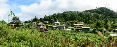 Pan Pat village, It is the place of Kayan tribe, Kayah State, Myanmar, Oct-2017 Stock Images