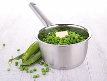 Pan with pea Stock Photo