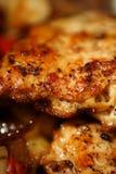 pan piec smażone kurczaki warzywa Zdjęcia Stock