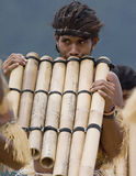 Pan Pipers of Solomon Islands Royalty Free Stock Image