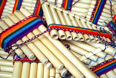 Pan pipes Stock Photography