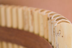 Pan Pipes. In a dark background royalty free stock images