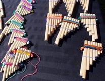 Pan Pipes Or Zamponas Photos libres de droits