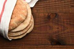 Pan Pita del trigo integral Imagen de archivo libre de regalías