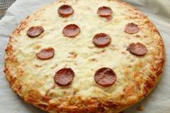 Pan pizza royalty free stock photos
