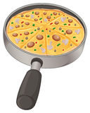 A pan with a pizza Royalty Free Stock Photo
