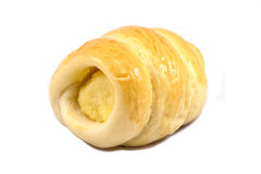 Pan poner crema fresco del cucurucho - aislado en el fondo blanco Imagenes de archivo