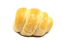 Pan poner crema fresco del cucurucho - aislado en el fondo blanco Foto de archivo