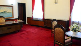 Pan  - Presidents Office - Independence Palace - Ho Chi Minh City. Former President Ngo Dinh Diem Residence during the Vietnam War stock video