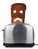 Pan quemado de la tostada Imágenes de archivo libres de regalías