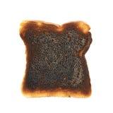 Pan quemado de la tostada aislado Imagen de archivo