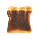 Pan quemado de la tostada aislado Fotografía de archivo