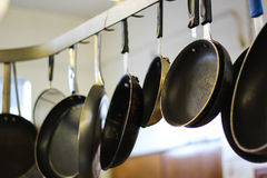 Pan on a rack Stock Image