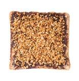 Pan Rebanada de pan con crema del chocolate fotos de archivo libres de regalías