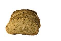 Pan rebanado aislado en el fondo blanco Fotografía de archivo libre de regalías