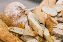 Pan recientemente italiano para abastecer en un evento corporativo Foto de archivo libre de regalías
