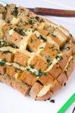 Pan relleno con queso imagen de archivo