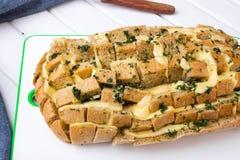 Pan relleno con queso imagen de archivo libre de regalías