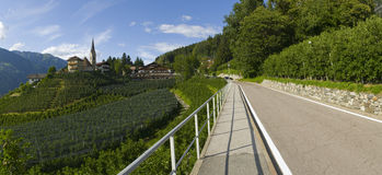 Pan_road to st georgen Royalty Free Stock Photography