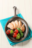 Pan roasted chicken breast Stock Images