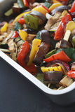 Pan roasted mixed vegetables Stock Photo