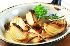 Pan roasted onion Stock Photo