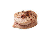 Pan roasted pork tenderloin medallion Royalty Free Stock Photography