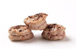 Pan roasted pork tenderloin medallions Stock Image