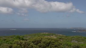 Pan from Rotary Lookout great ocean drive Esperance australia stock video footage