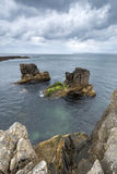 Pan's Rock - Ballycastle - Northern Ireland. Landscape royalty free stock photo
