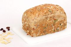 Pan sano del trigo integral Imagen de archivo libre de regalías