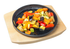 Pan with sauteed vegetables Stock Photography