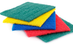 Pan scourers Stock Photo