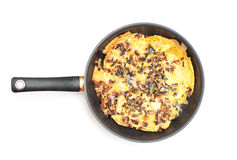 Pan with scrambled eggs Stock Photography